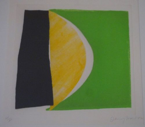 Sir Terry Frost Lemon Green and Black signed print